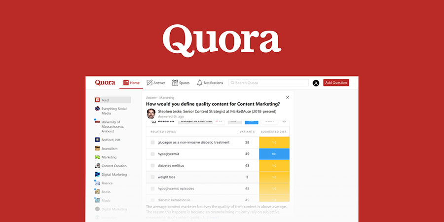 Digital Marketing on Quora