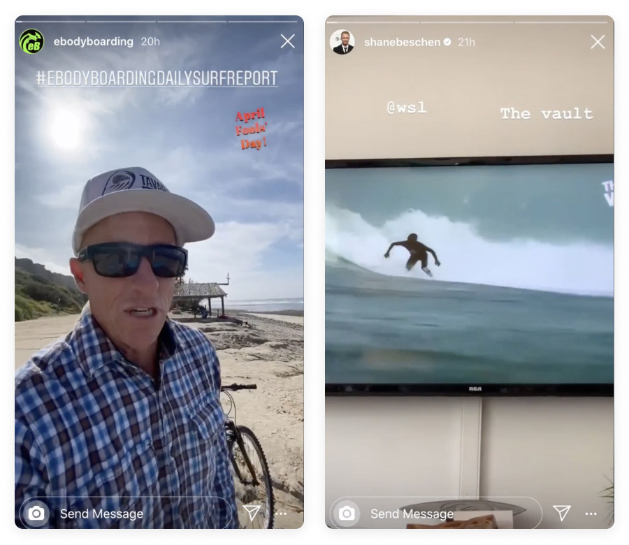 Instagram Stories - outdoor
