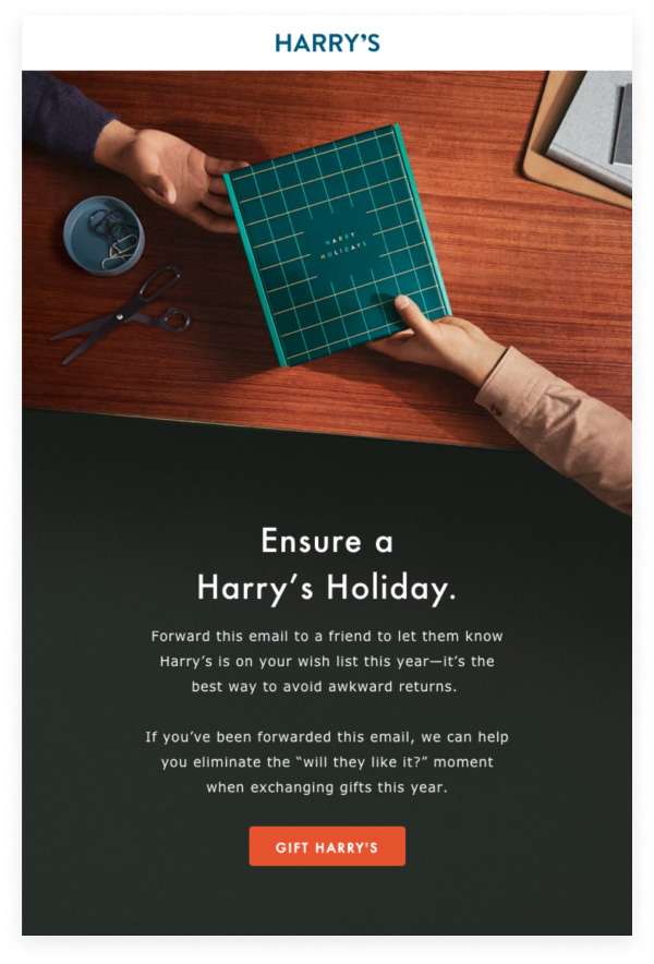 Harry's email example