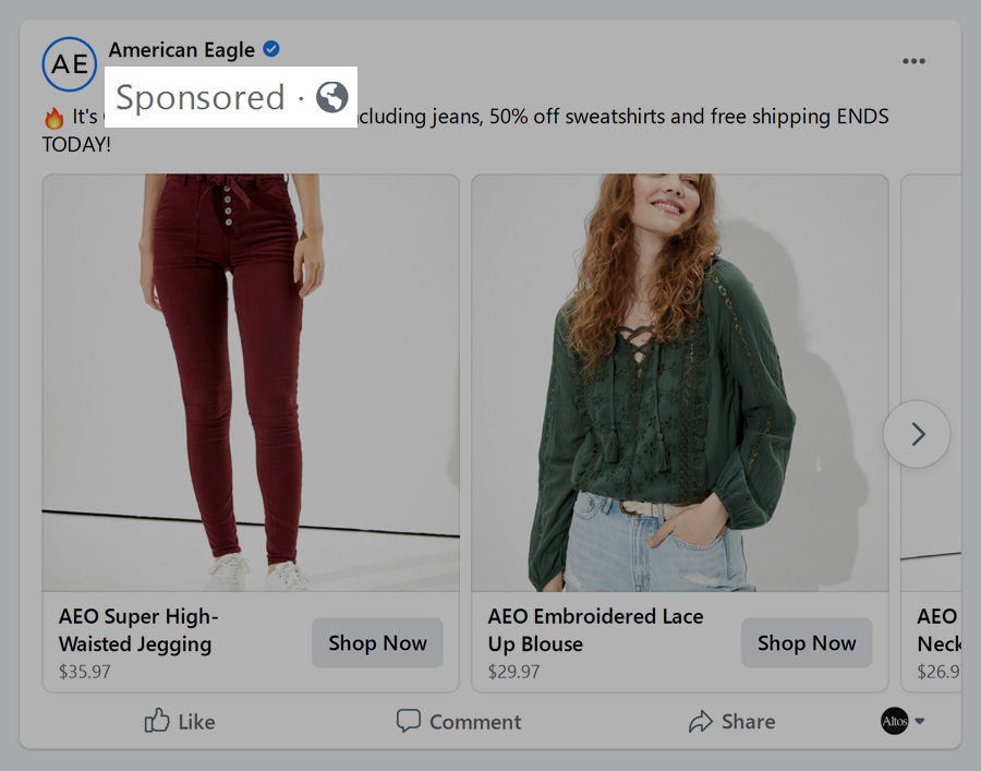 Facebook Ad Example