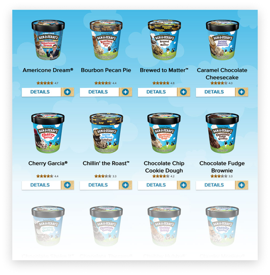 Ben & Jerry's - products