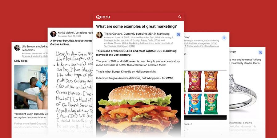 Quora marketing examples