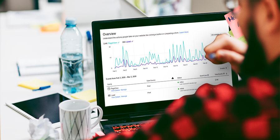 A digital marketer analyzing a report