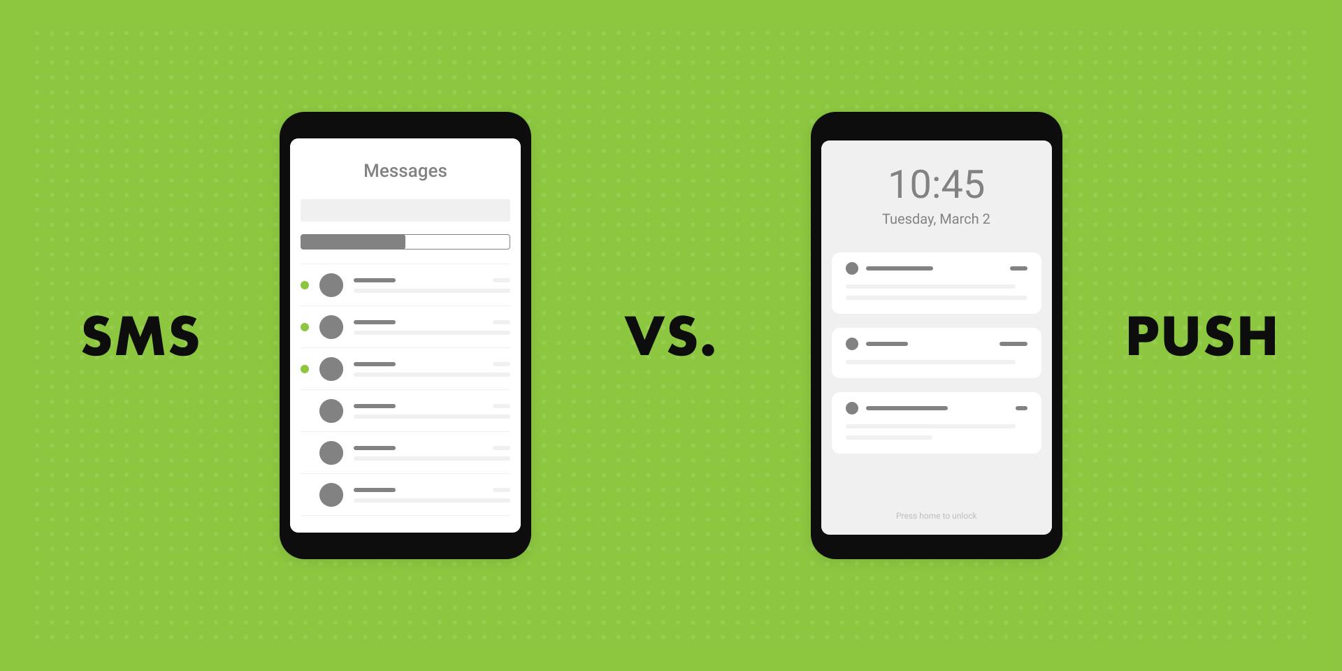 SMS vs. Push Notifications