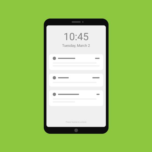 Push notification graphic