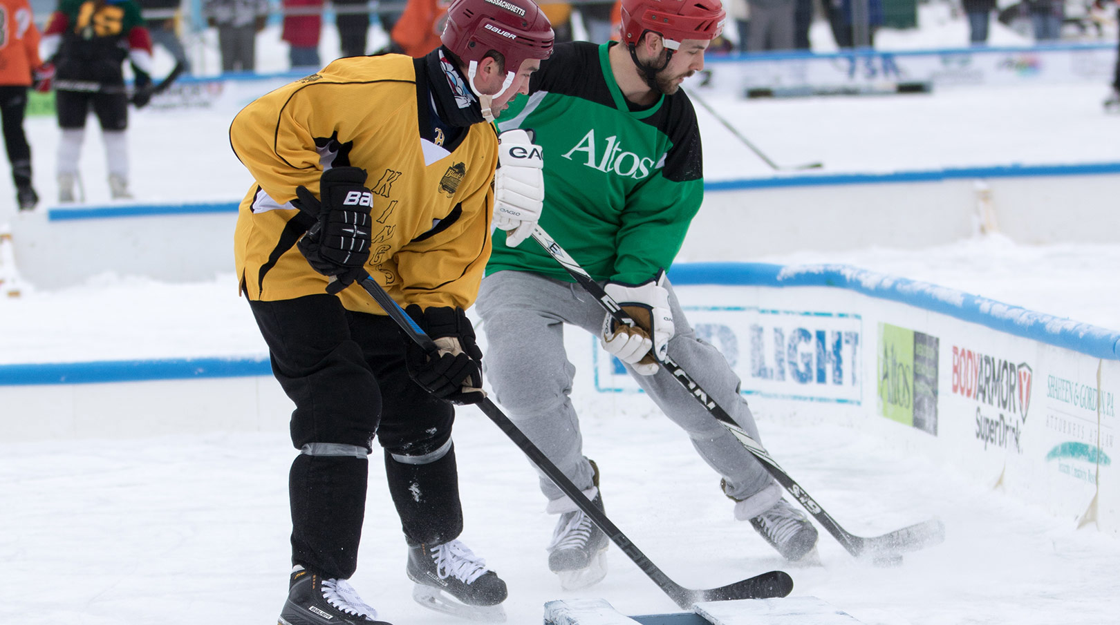 Black Ice Pond Hockey Game