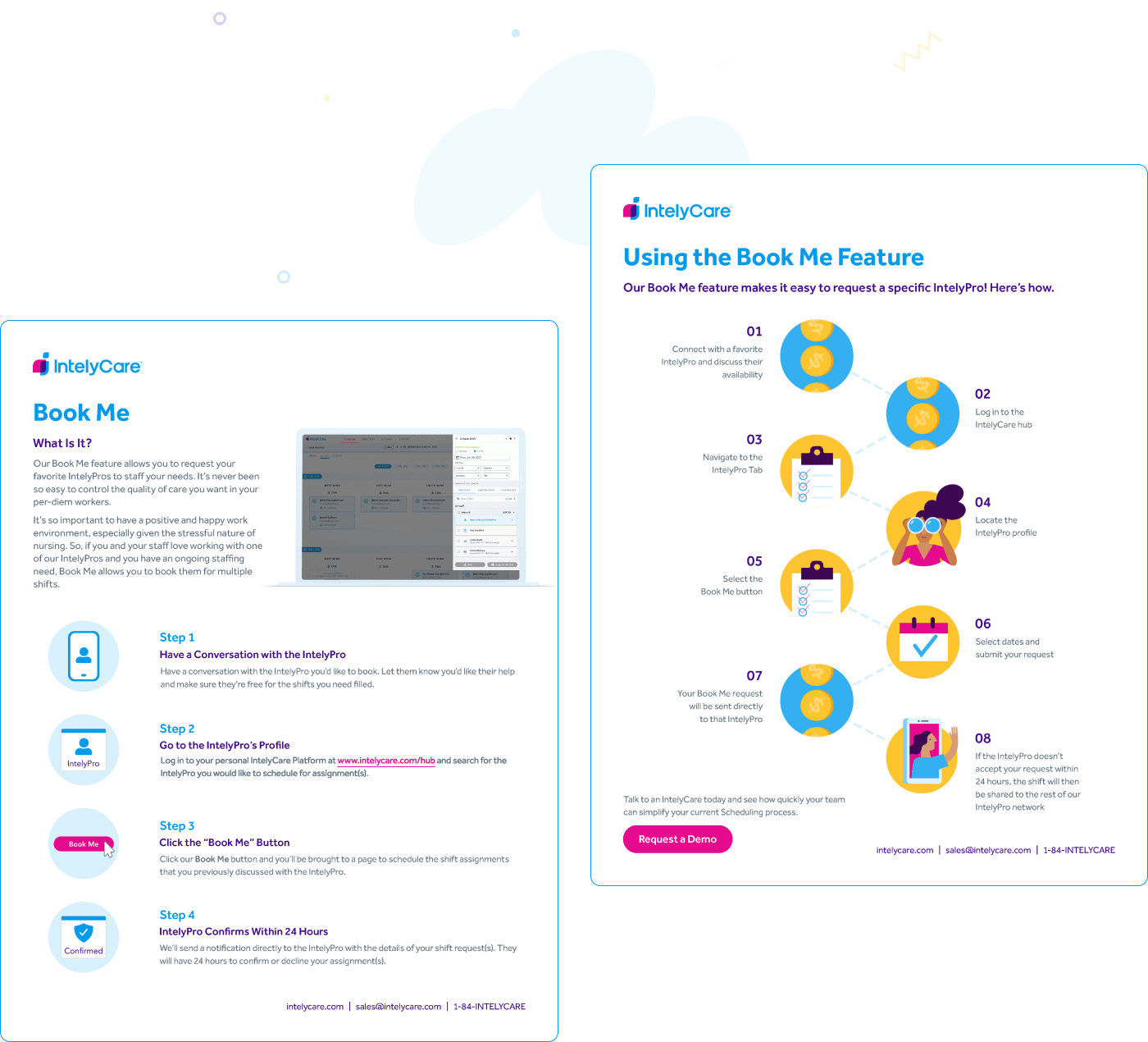 IntelyCare - One-pagers