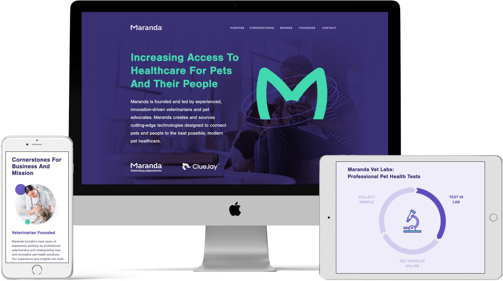 Maranda website on devices