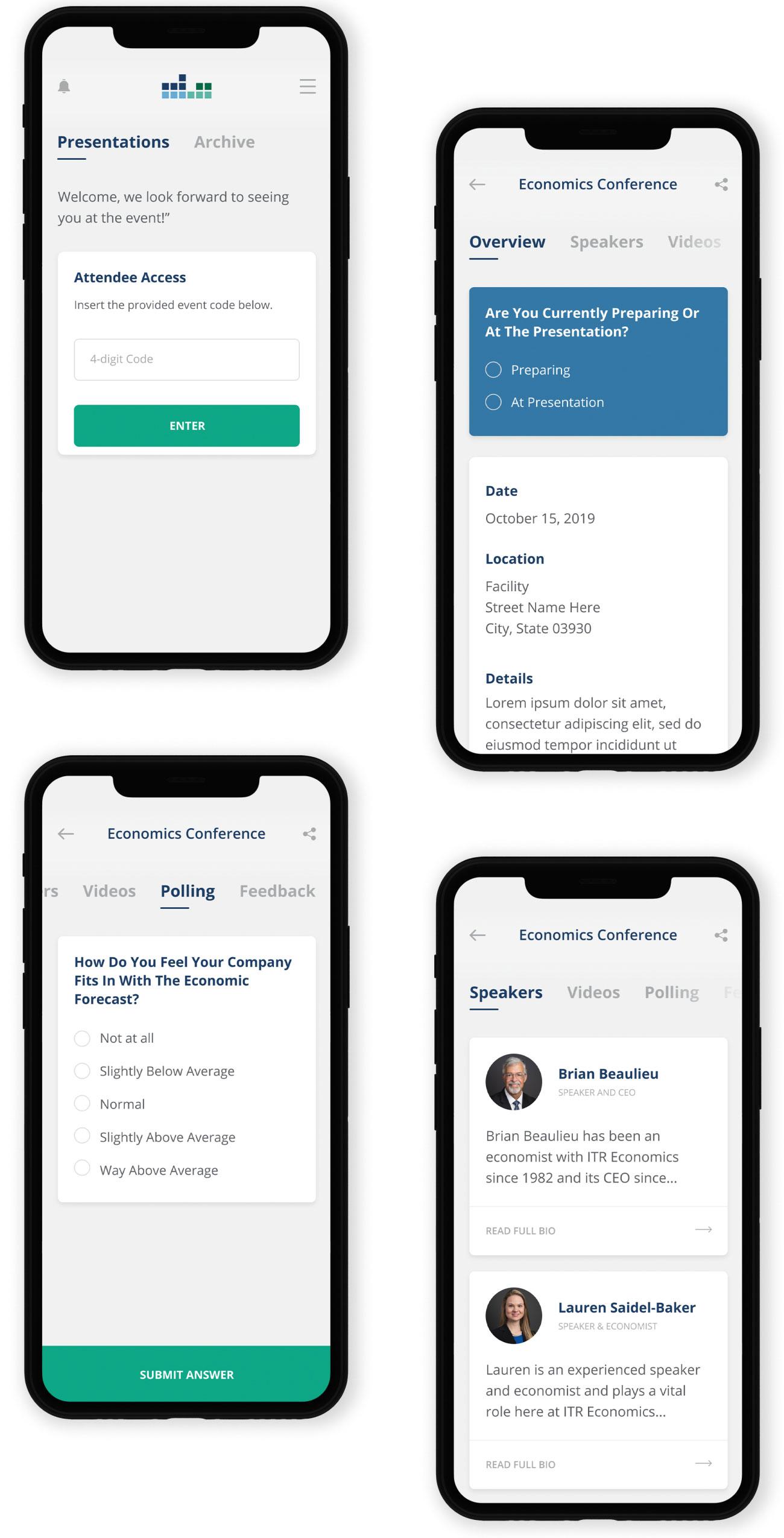 onDemand App presentation screens