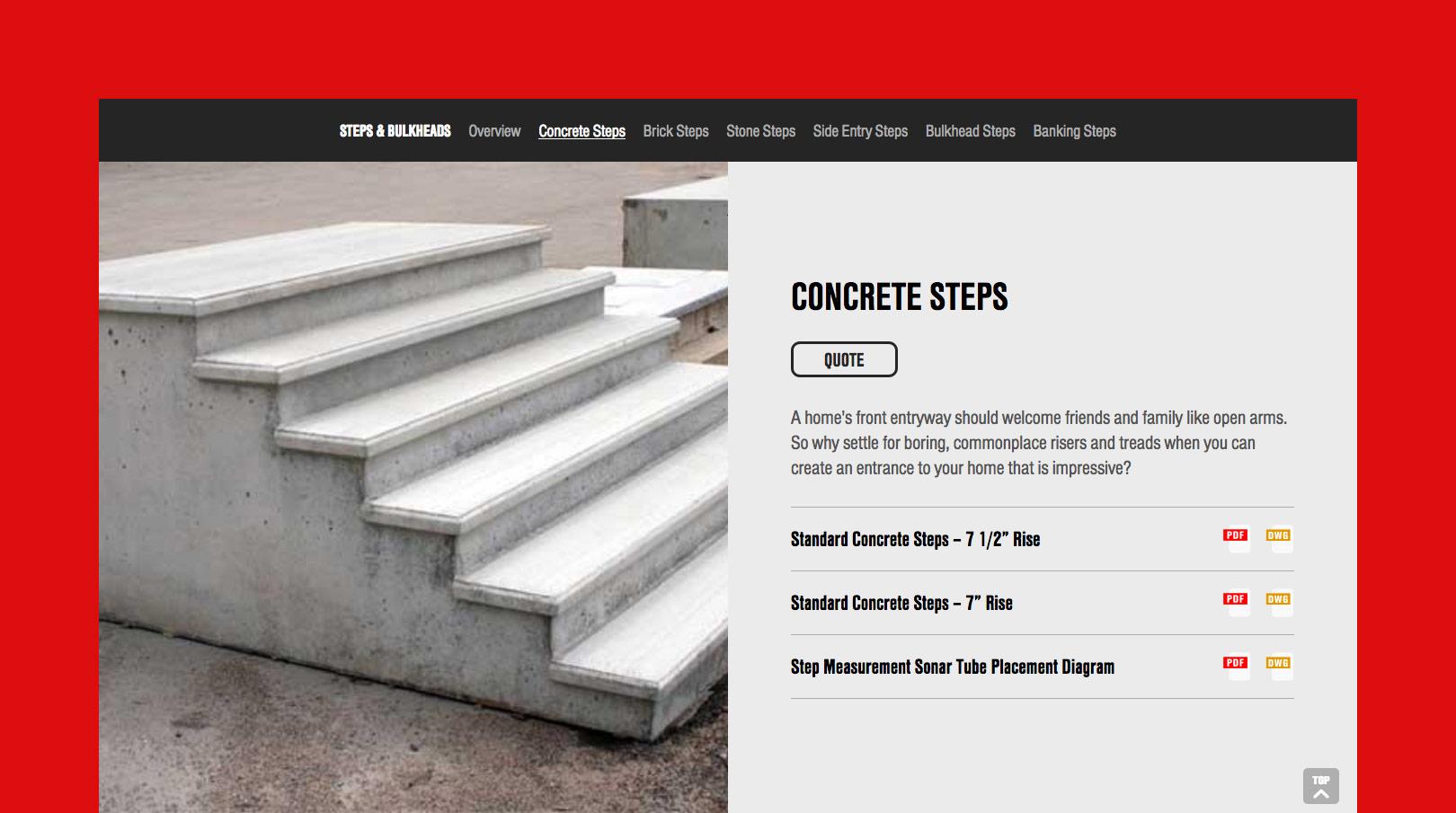 Shea Concrete Product Page