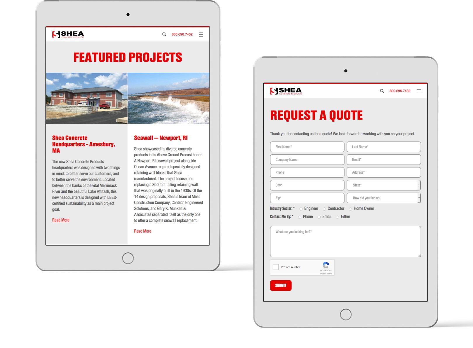 Shea Concrete Tablet Screens