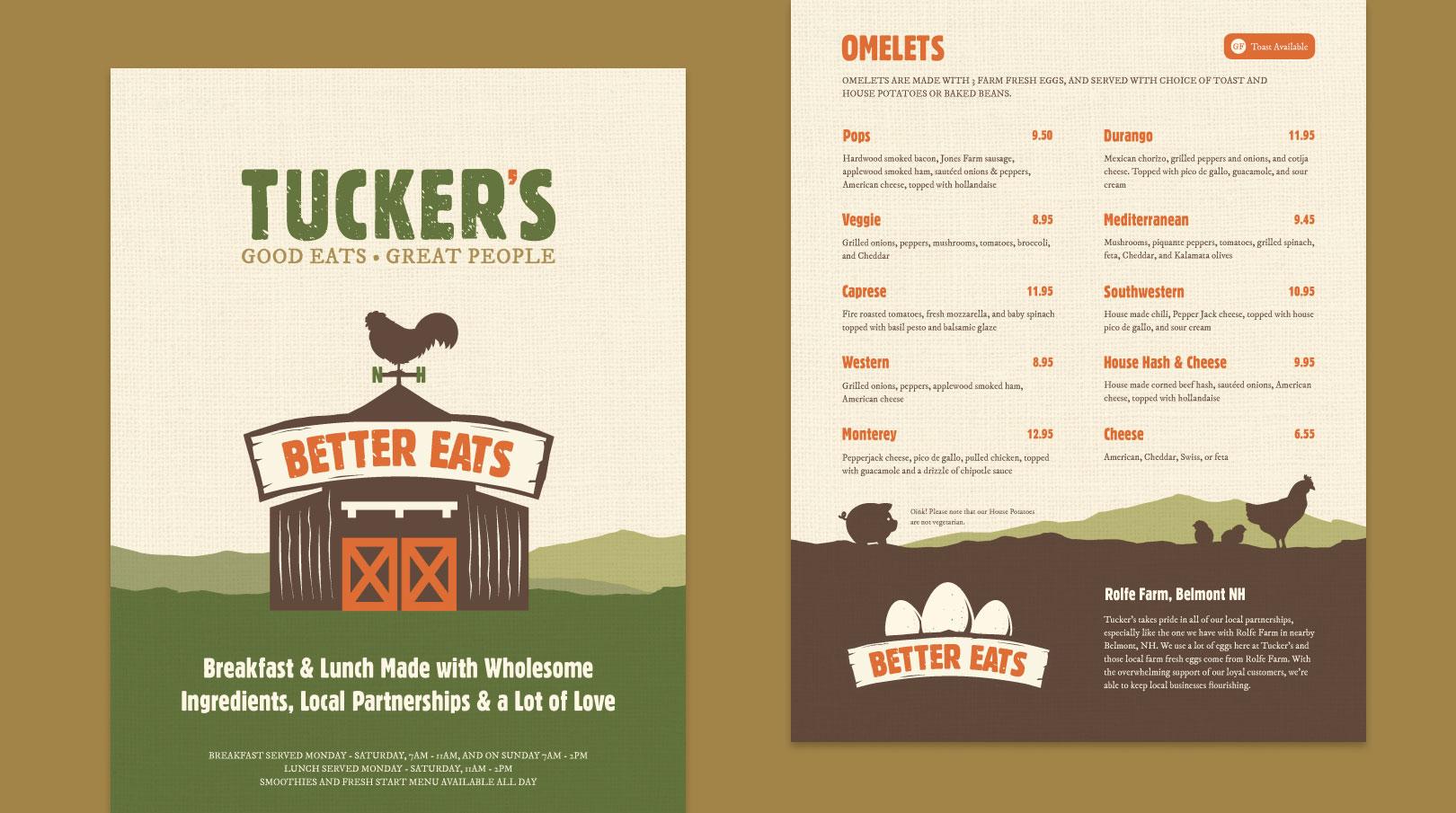 tuckers menus