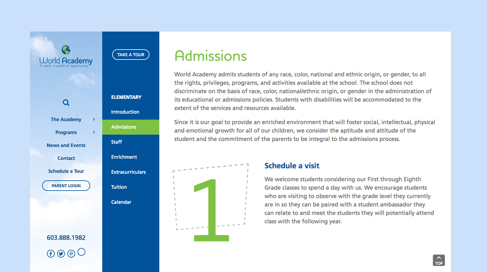 World Academy Admissions