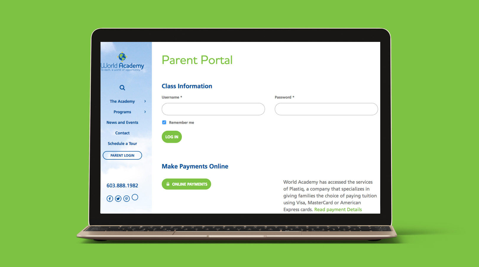 World Academy Parent Portal